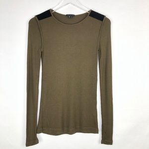Theory Green long sleeves top size S